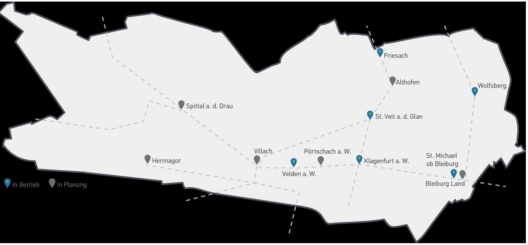 Radbox Standorte Betrieb und Planung
